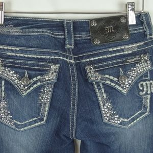 Miss Me Jeans Size 25 Easy Boot Denim Embellished